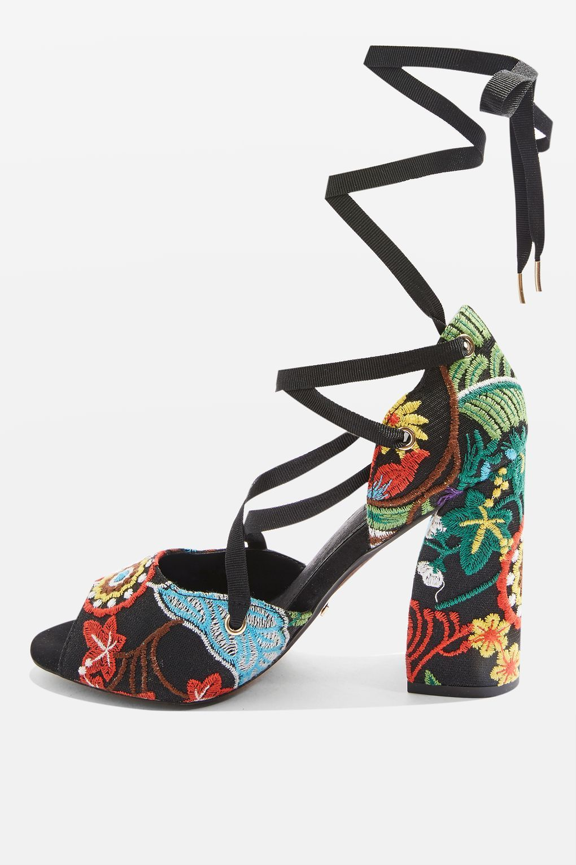 Rhapsody Embroidered Heeled Sandals. Women's HeelsHeeled SandalsHigh ...