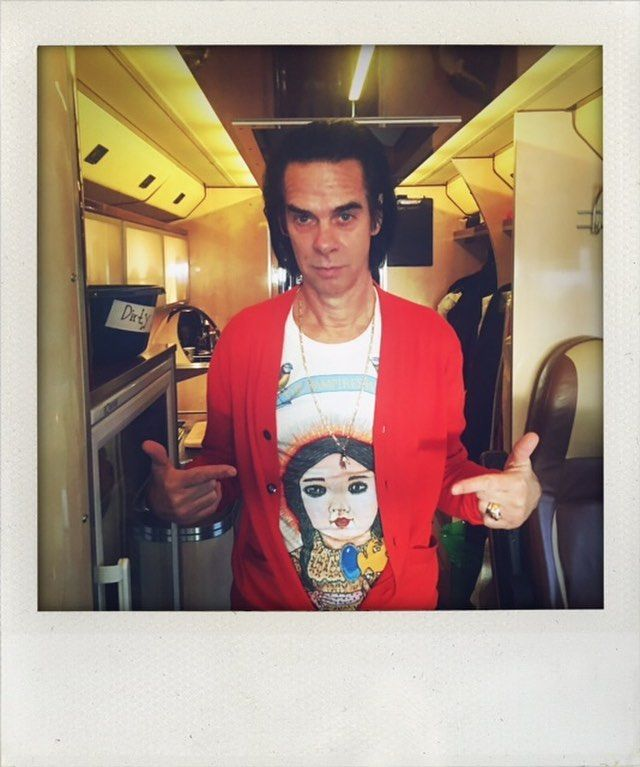 d807b8fc Repost from Nick Cave (@nickcaveofficial) on Instagram: 'Leaving Glasgow in the  Limited Edition Vampires Wife x Karen Constance t shirt.'