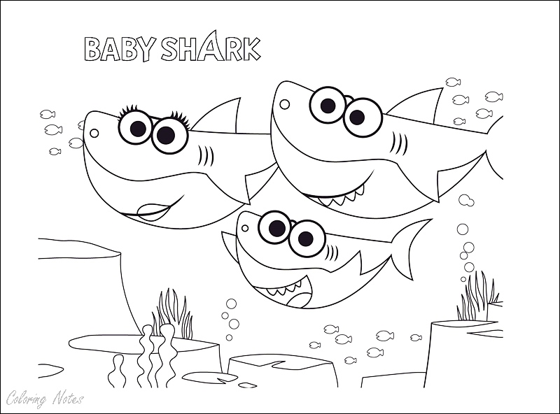 Baby Shark Coloring Pages Free Download And Print Easy Shark Coloring Pages Family Coloring Pages Coloring Pages
