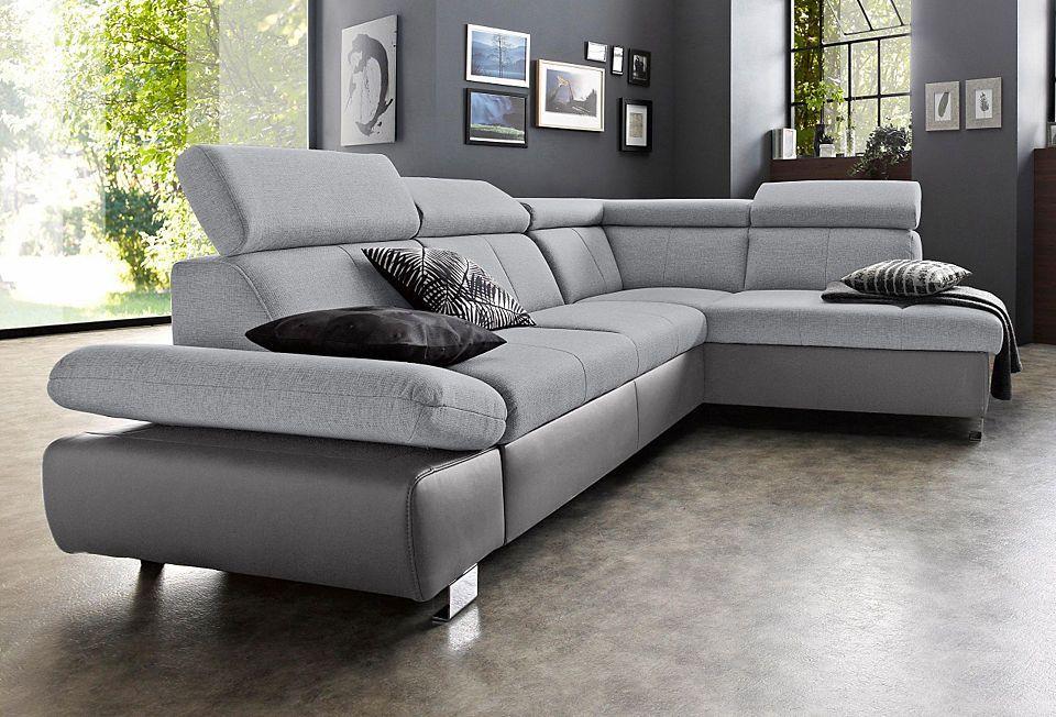 Gala Collezione Polsterecke, mit Ottomane und wahlweise mit - wohnzimmer sofa braun