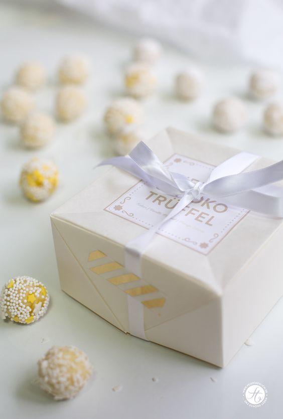 Geschenke aus der Küche Weisse Schoko Trüffel 1 Grundrezept \u2013 3 - geschenke für die küche