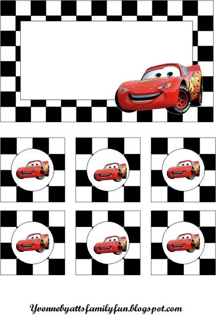 Cars Party Decoration - free printable for cars birthday