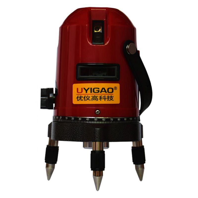 Uyigao Ua603 3 Line Rotary Laser Beam Self Leveling Interior Exterior Horizontal Laser Tripod Rotary Laser 3 Line Laser Levels Laser Beams