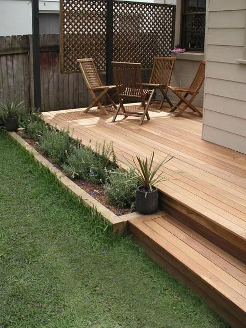 Our pictures of completed garden decks  screens and timber fences reflect  the special character of our unique work  give you beautiful impressions  and can. Landscaping And Outdoor Building   Great Small Backyard Deck