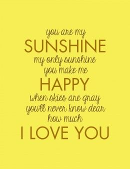 You are my sunshine   Photo Canvas Print for Quotes, Office, Girls