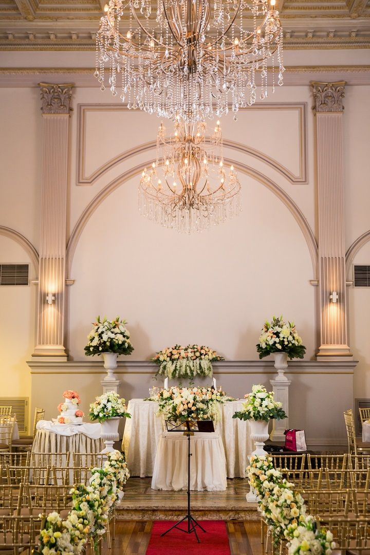 Arabic style wedding ceremony decorations | itakeyou.co.uk #wedding #weddingdress #offtheshoulder