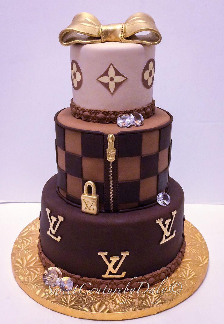 Fabulous Louis Vuitton Cake Chanel Cake Personalised Birthday Cards Veneteletsinfo