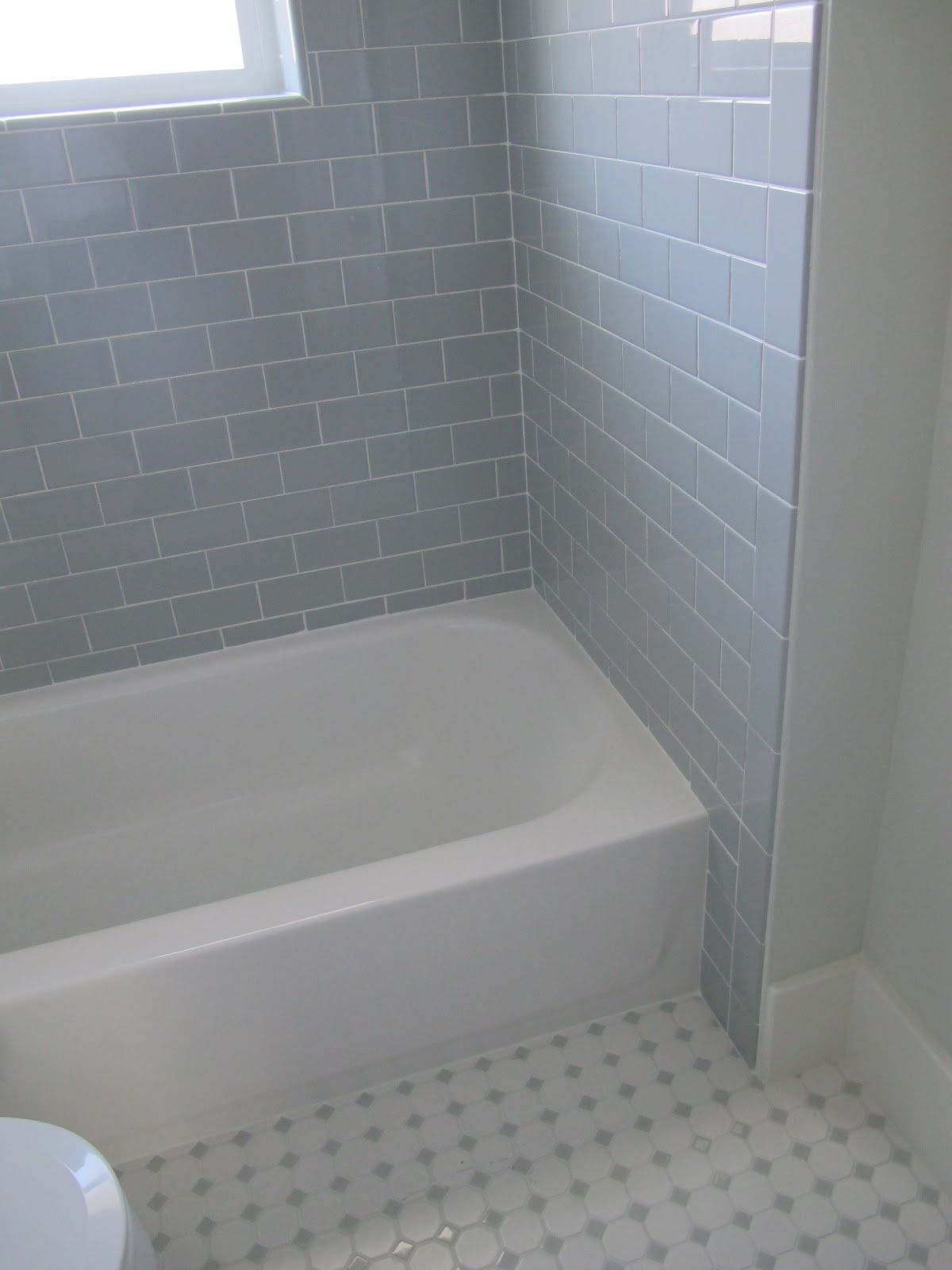 Delightful Did The Same 3x6 Desert Gray Subway Tile From Dal Tile But The Flooring Is  Different
