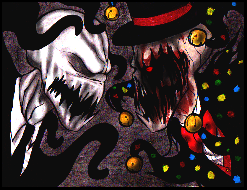 slenderman vs splendorman by tehcheychibi deviantart com drawings