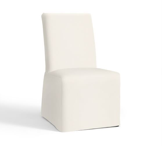 Pb Comfort Square Slipcovered Dining Chairs Slipcovers