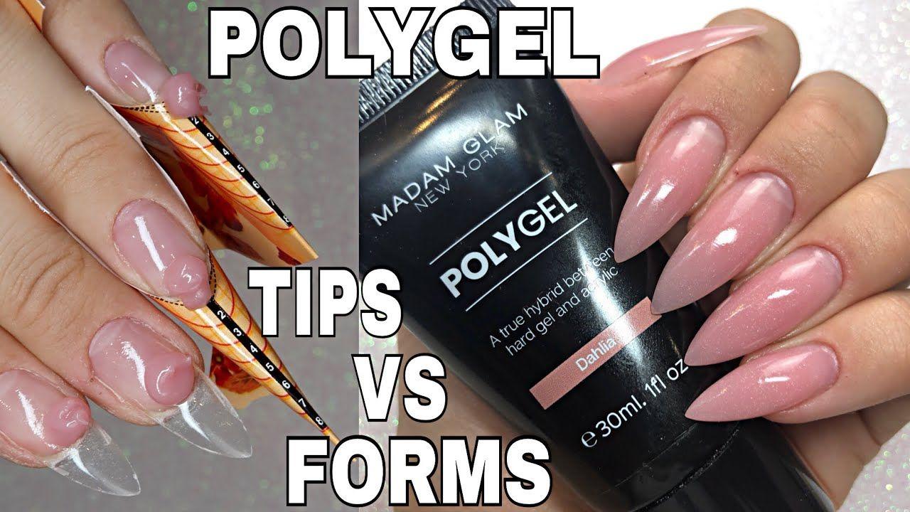 How To Madam Glam Polygel Sculpt Vs Tips Isabelmaynails Youtube Diy Acrylic Nails Gel Nails Diy Madam Glam