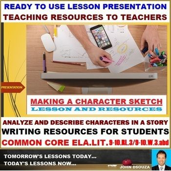 A Lesson Presentation That Presents Teaching Resources In Character Description This Perfect
