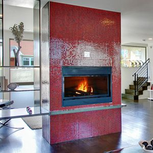 Red Gl Tile Fireplace Front Http Www Modwalls