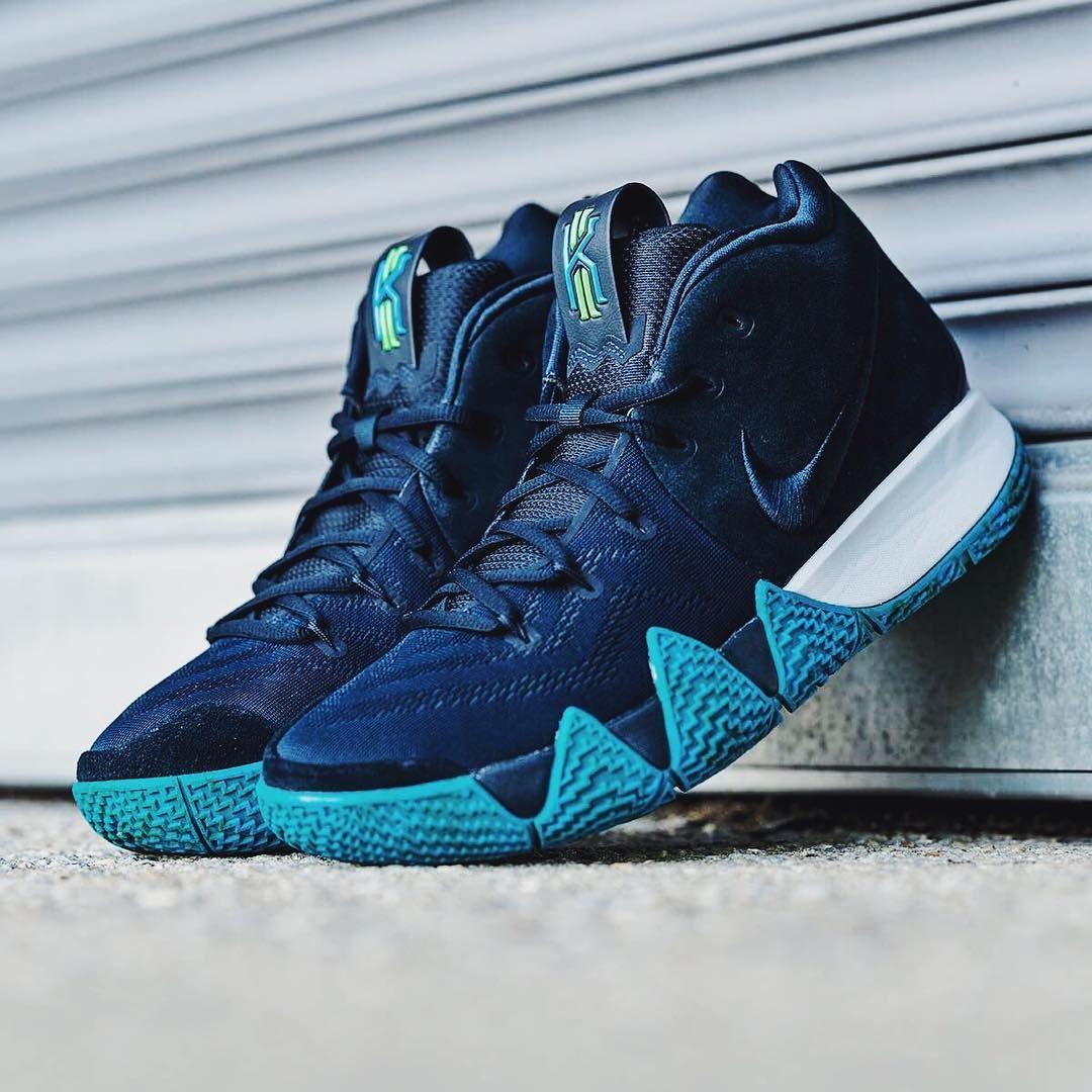 3f8567df8be0f0 Nike Kyrie 4 Dark Obsidian   Black Credit   YCMC