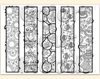 Printable coloring zendoodle bookmarks Bookmarks Colouring and