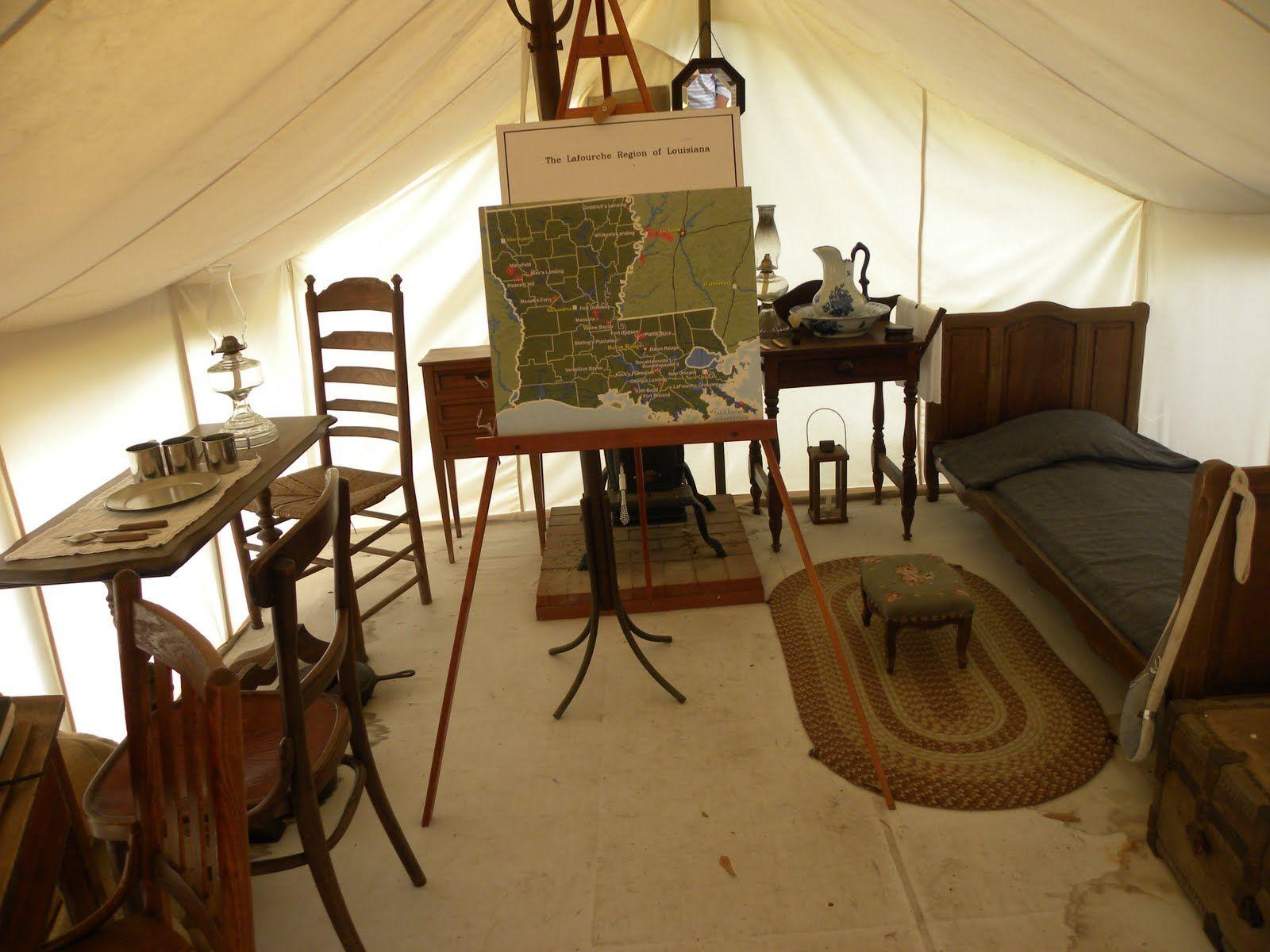 Confederate Tent Civil War Photos Camp Furniture