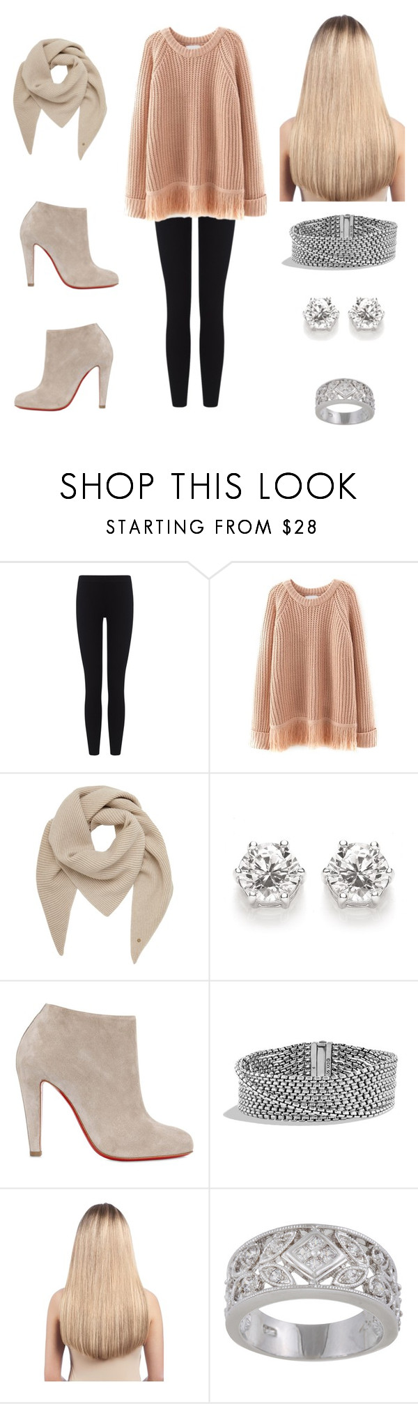 """""""Untitled #148"""" by cls-lax ❤ liked on Polyvore featuring James Perse, Mulberry, Christian Louboutin, David Yurman, Extension Professional, Sterling Essentials, women's clothing, women, female and woman"""
