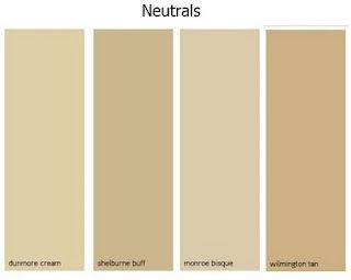 Benjamin Moore Neutral Paint Colors: Dunmore Cream, Shelburne Buff