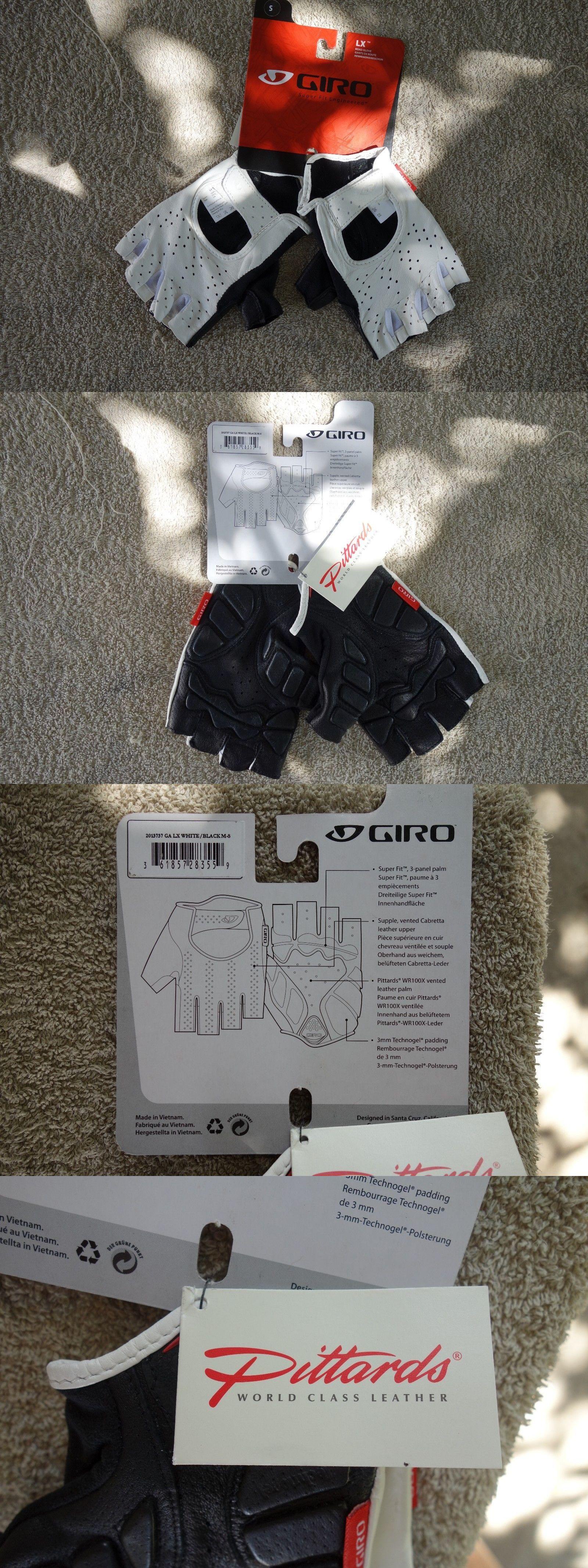 Gloves giro lx short finger cycling gloves white black