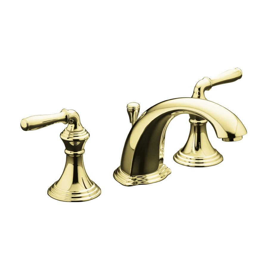 Kohler Devonshire Vibrant Polished Brass 2-Handle Widespread ...