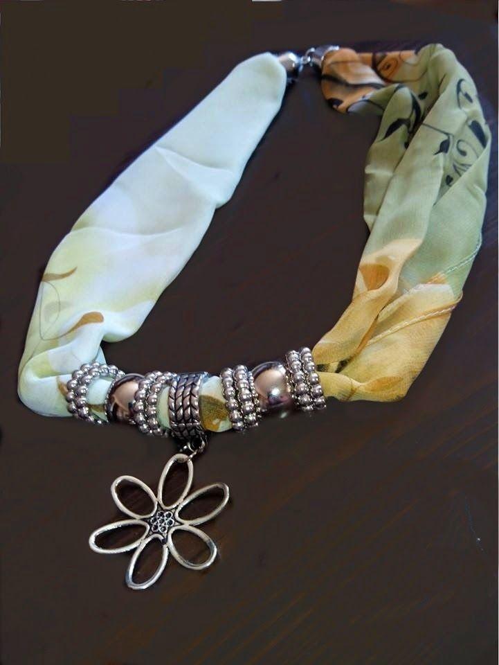 como hacer collares de pañuelos
