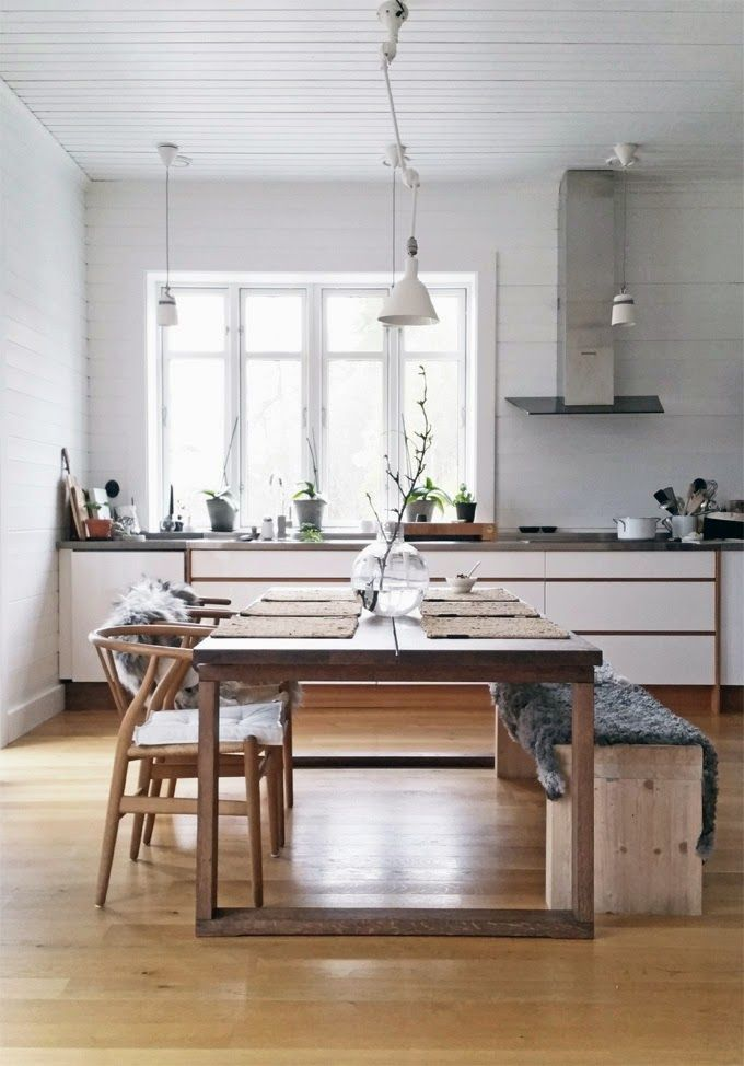 Stil Inspiration New Ikea Table Morbylanga And Wishbone Chairs