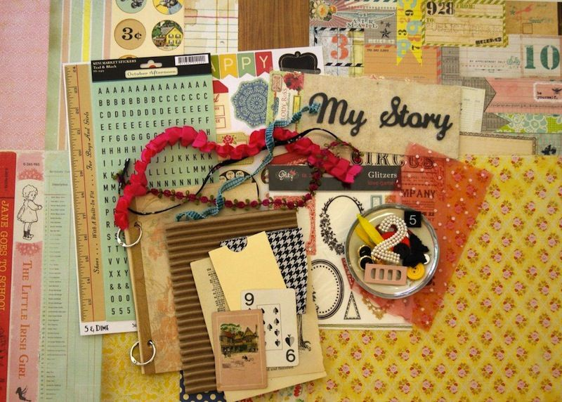 MayKit:I'm Smitten, 2011    little black dress kit club scrapbook