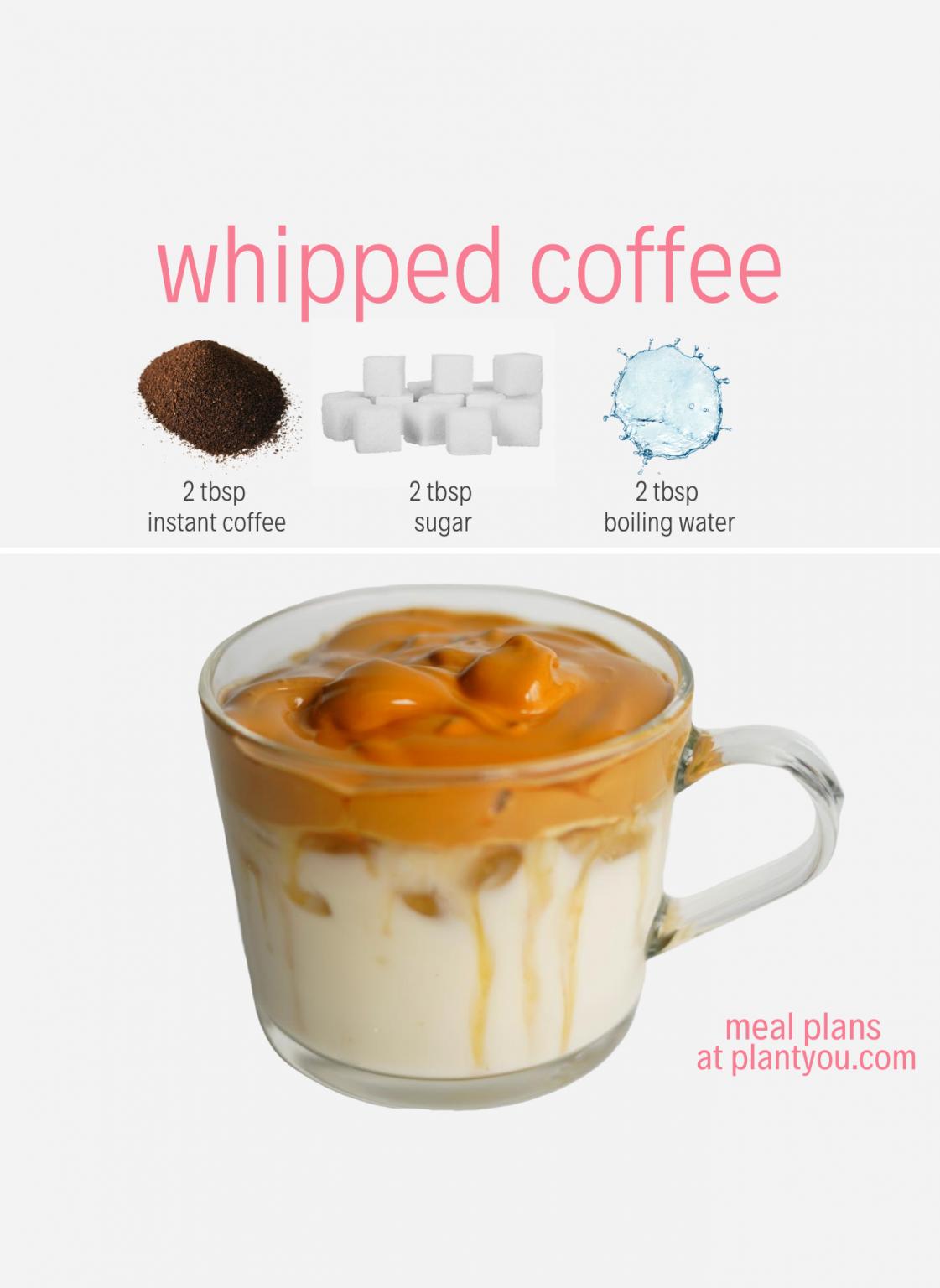 Whipped Coffee Recipe (Dalgona Coffee) - Plant You  Easy coffee