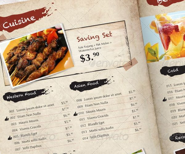 30+ Food Menus Templates for Café and Restaurants Ginva Design
