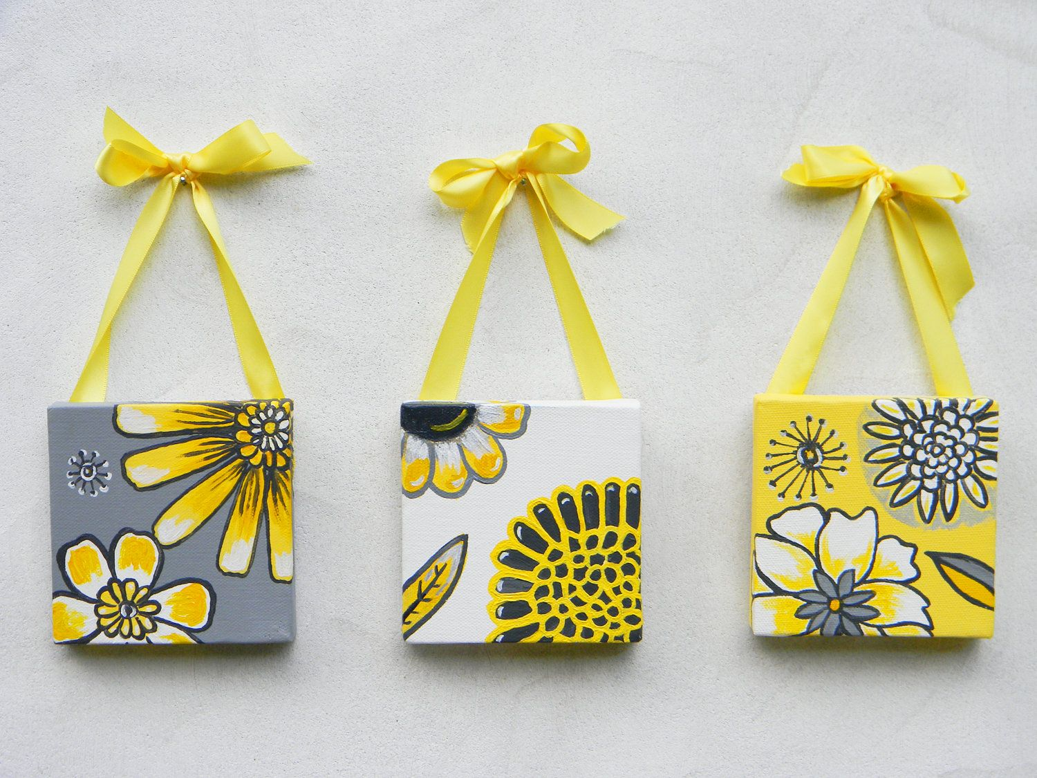 painting set of 3 | set of three original acrylic paintings for my ...