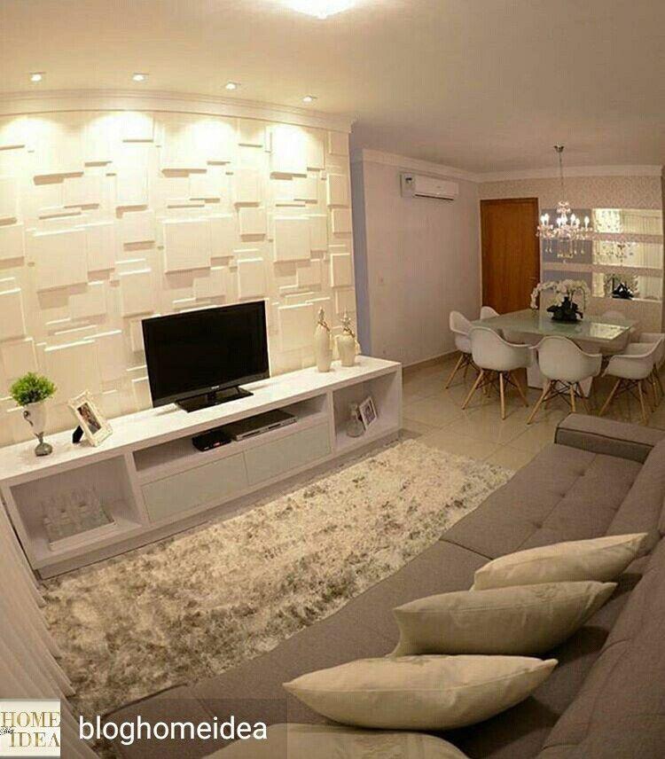 Kleine Zimmer, Moderne Architektur, Tapeten, Einrichtung, Wohnzimmer Ideen,  Wohnen, Tv Wände, Kleine Wohnzimmer, Dekor Zimmer