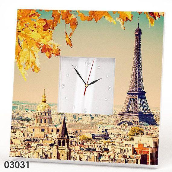 Parisian wall clock, Paris gift ideas, Paris skyline, Paris ...