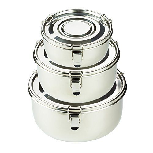Premium Stainless Steel Food Storage Containers Leak Proof Airtight