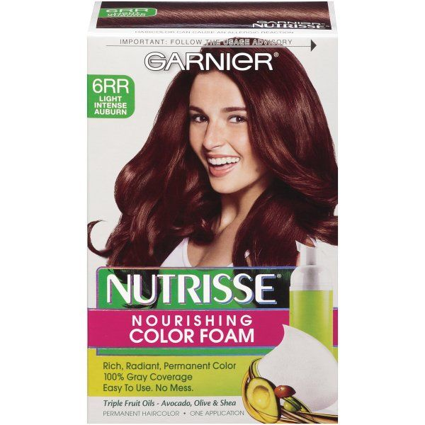 Garnier Nutrisse Nourishing Color Foam Light Intense Auburnamazon