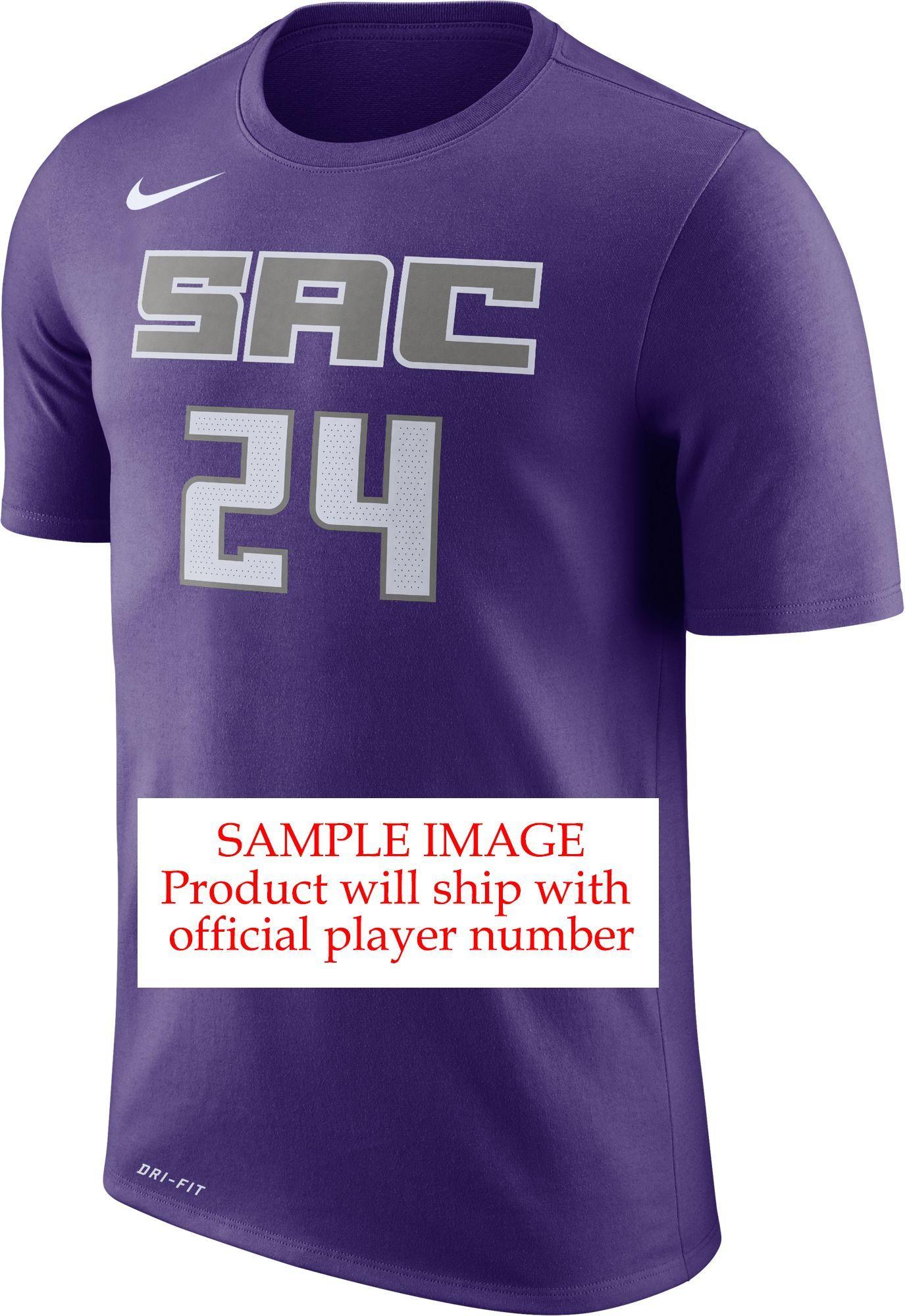 df1772972 Nike Men s Sacramento Kings Marvin Bagley III  35 Dri-FIT Purple T-Shirt