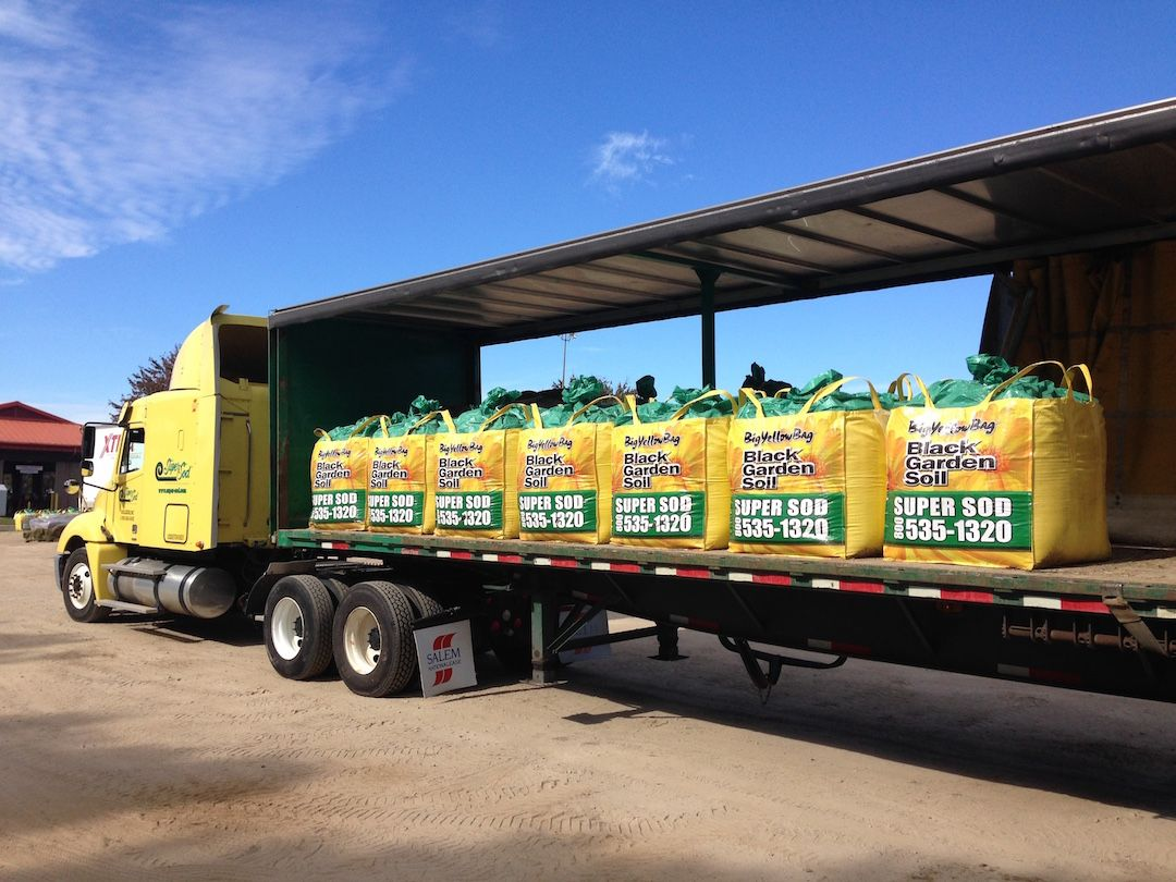 BigYellowBags of Soil3 organic compost top soil going out