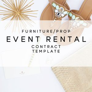Furniture  Prop Event Rental Contract Template From The Contract