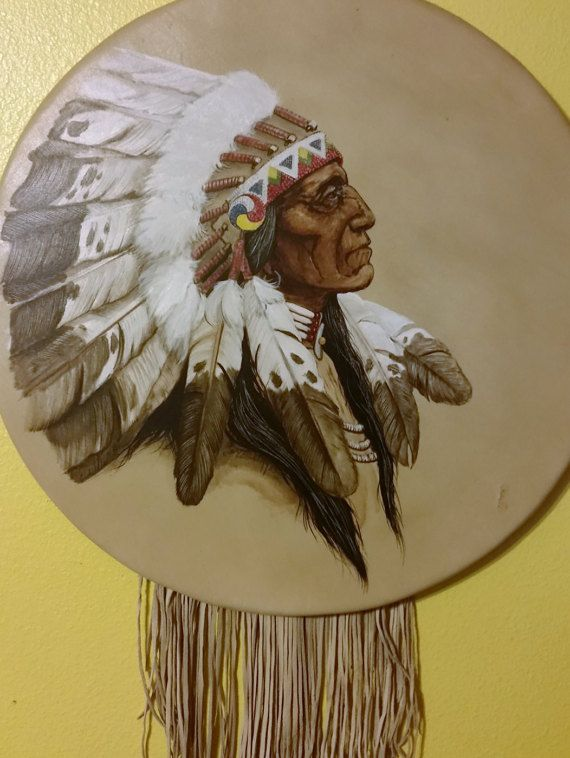One Of A Kind Cameron Blagg Native American Painting On Leather kp