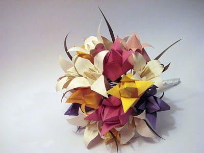 vania passos origami | SE MEU JARDIM DER FLOR...: Buquê de noiva
