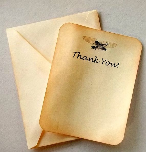 travel Thank you cards wedding  airmail rustic Set by 0namesleft, $ 40.00