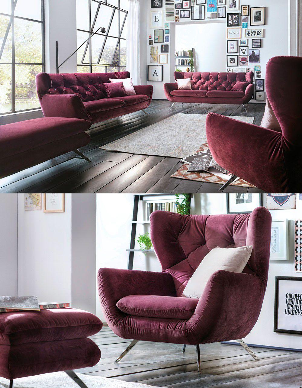 Candy Sixty Polsterganitur Purple Möbel Letz Ihr