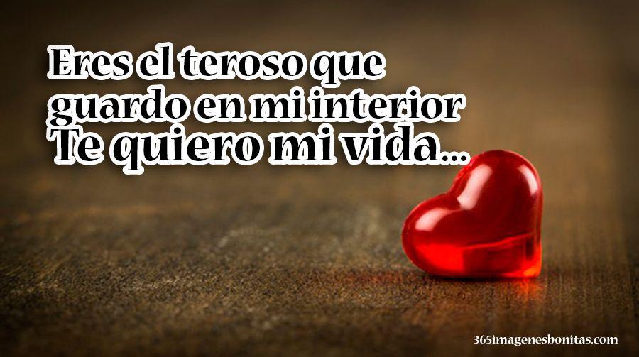 Eres Mi Tesoro Te Amo Mi Vida Amor Frases De Amor Frases