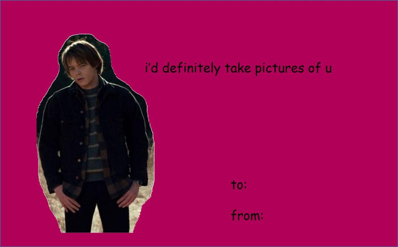 Stranger Things Valentines Jonathan Byers Stranger Things In