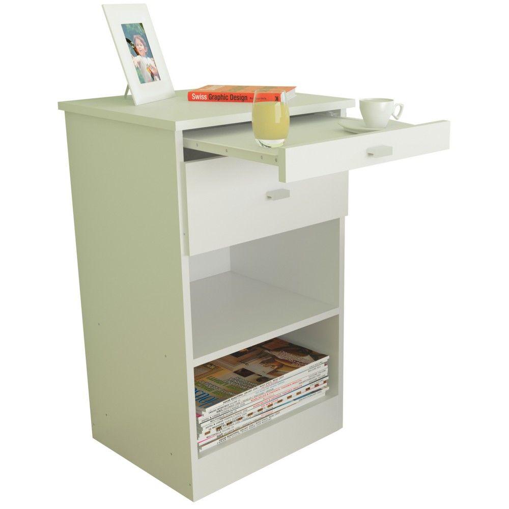Mesa De Luz Centro Estant Con Desayunador Blanco Diy Pinterest  # Muebles Centro Estant