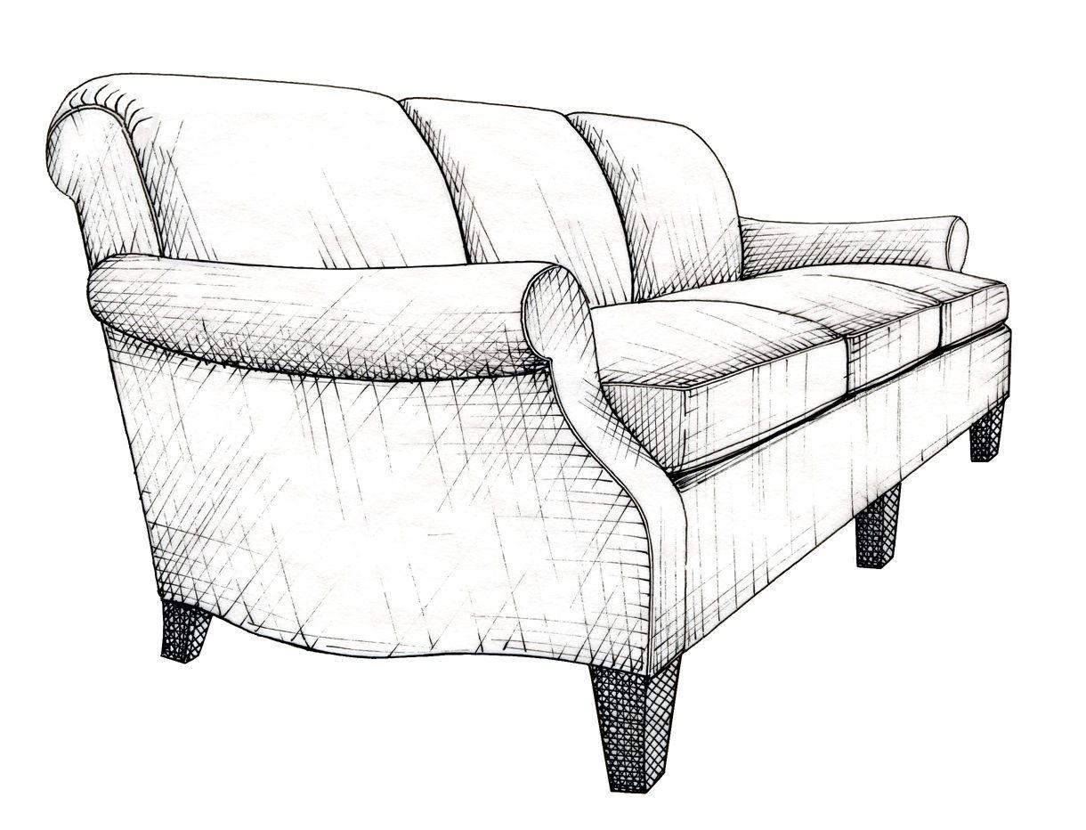Illustration By Anara Mambetova Finkelstein For Bauer And Dean Publication Patt Drawing Furniture Furniture Details Design