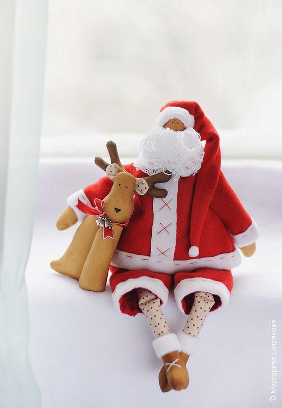 Санта с оленем | tilda | Pinterest | Tilda puppen, Weihnachtsmarkt ...