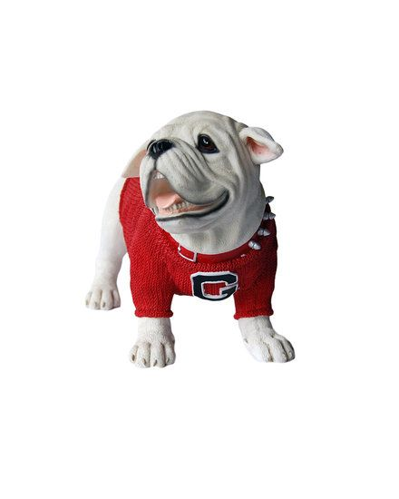 UGA Figurines / Georgia Bulldogs Large Uga Figurine Red Sweater Jersey    Indoor Only
