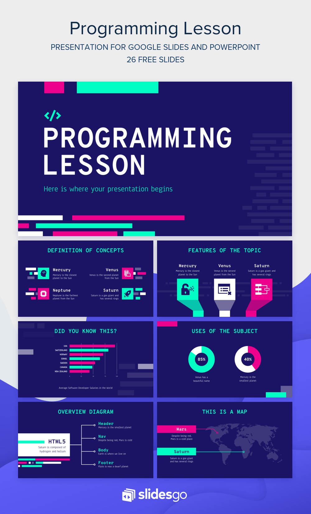 Prepare A Lesson On Programming With This Geometric Google Slides Theme And Powerpoint T Powerpoint Design Templates Powerpoint Business Presentation Templates