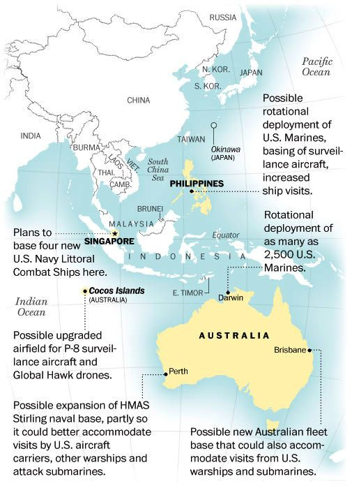 US Military Expansion In Southeast Asia Cold War And Troops - Us military bases in asia map
