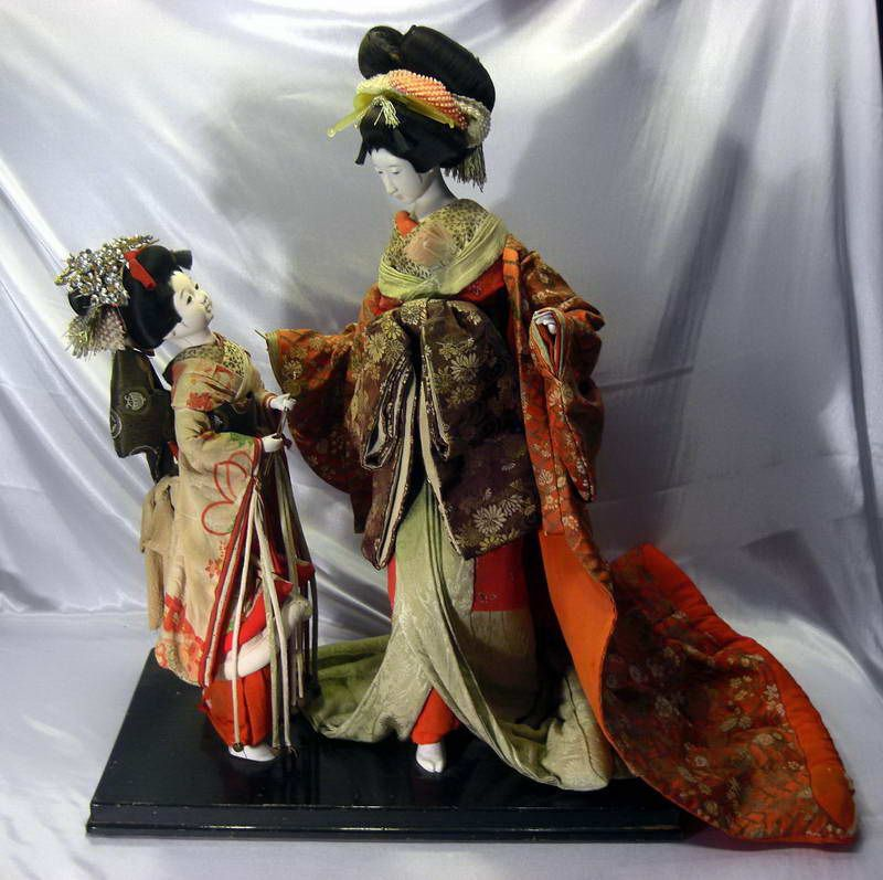 ad3261c0c2a RARE Antique Japanese Geisha Bisque Porcelain Dolls Circa 1900 S ...